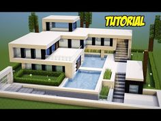 Discover recipes, home ideas, style inspiration and other ideas to try. Minecraft Modern Mansion, Minecraft House Plans, Minecraft Cottage, Easy Minecraft Houses, Minecraft House Tutorials, Minecraft Houses Blueprints, Minecraft Room, Amazing Minecraft, Minecraft Tutorial