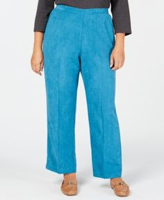 b30c39ced82 Alfred Dunner Plus Size Victoria Falls Pull-On Pants - Blue 16WS