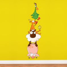 Animal Pyramid Wall Decal - how fun for a child's room!