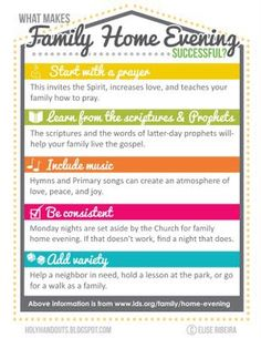 1000 Images About Free Family Home Evening Printables On Pinterest Fhe Les