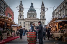 Drinking feast by the Basilica, Budapest