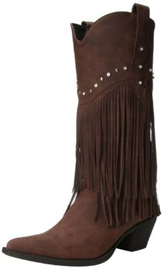 Roper Women's Fringe and Stud Western Boot,Brown,6 M US - http://womenswinterboots.asiaparent.com/roper-womens-fringe-and-stud-western-bootbrown6-m-us/
