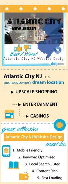 Atlantic City NJ Website Design, The top BEST and WORST