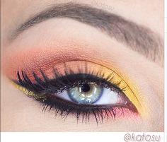 Pomarańczowo-żółty makijaż katOsu