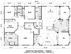 If you are going to build a barndominium, you need to design it first. And these finest barndominium floor plans are terrific concepts to begin with. Jump this is a popular article Custom Barndominium Floor Plans Pole Barn Homes Awesome. Triple Wide Mobile Homes, Modern Mobile Homes, Mobile Homes For Sale, Double Wide Home, Barn House Plans, Dream House Plans, House Floor Plans, Barn Plans, The Plan
