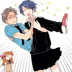 gekkan shoujo nozaki-kun kashima holds hori XD his face // He's basically just given up on this situation xD Belle Cosplay, Kashima, Gender Bender Anime, Monthly Girls' Nozaki Kun, Princess Jellyfish, Gekkan Shoujo Nozaki Kun, A Silent Voice, Manga Artist, Cute Anime Couples