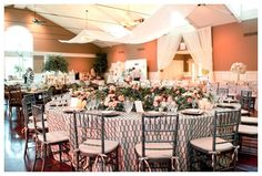 grey, blush and marsala table setting from Intrigue Design & Decor