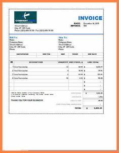 Excel Invoices Templates Free Excel Invoice Template  Excel Invoice Template  Pinterest .