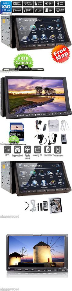 Vehicle Electronics And GPS: Win6 2 Din Gps Navigation Car Dvd Player Satellite Stereo Radio Bluetooth+Camera -> BUY IT NOW ONLY: $128.98 on eBay!