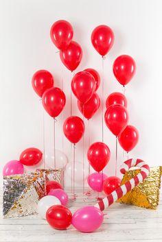 Воздушные шары 30 см, красные, 15 шт.