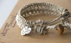 Te Amo Pulsera, dos pulseras i love you couples bracelet, his hers bracelets, ella ello pulser a