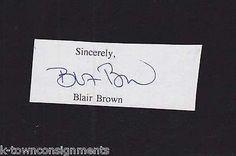BLAIR BROWN SHAKESPEAREAN ACTRESS ORIGINAL AUTOGRAPH SIGNATURE CLIPPING