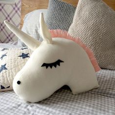 Unicorn Pillow Nursery Decor Kids Pillow Baby Bedding by ChikyPOP #UnicornPillow #site:cheapthrowpillows.club
