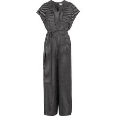 Diane von Furstenberg Printed silk jumpsuit (€435) ❤ liked on Polyvore featuring jumpsuits, wide leg jumpsuit, print jumpsuit, patterned jumpsuit, diane von furstenberg jumpsuit and wrap jumpsuits