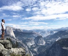 Hiking up to glacier point in Yosemite national park