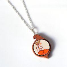 Simple Circle Mahogany Bird Recycled China by TheBrokenPlate, $40.00