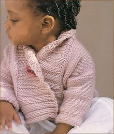 Ribbed baby jacket by debbie bliss. Newborn to 2 years