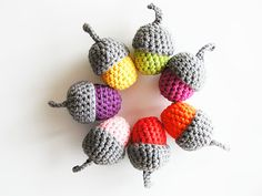 Amigurumi Acorns - Tutorial ❥ 4U //hf