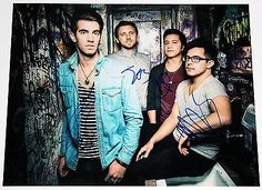 American authors band signed #11x14 #photo best day of my life zac #barnett +coa,  View more on the LINK: http://www.zeppy.io/product/gb/2/331765705553/