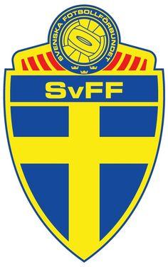 Sweden Primary Logo on Chris Creamer's Sports Logos Page - SportsLogos. A virtual museum of sports logos, uniforms and historical items. Football Team Logos, Soccer Logo, National Football Teams, World Football, Sweden Football, Fifa, Equipement Football, Soccer Theme, Badges