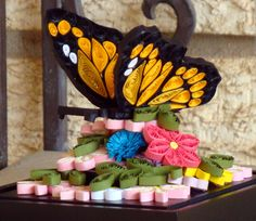 Quilled 3D butterfly