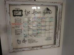 Apples 4 Bookworms: My Shabby Window Calendar