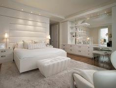 luxurious bedroom white interior white carpet