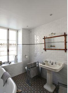salle de bain carreaux de ciment / carrelage métro