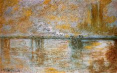 Charing Cross Bridge 3, 1901 by Claude Monet. Impressionism. landscape