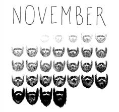 No Shave November! My hubby is participating! Talk about men's cancer risks, please?