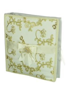 Spanish Wedding Decorative Album - Gold Tone Metallic Embroidery and Padded Ivory Satin Cover ** Details can be found by clicking on the image. (This is an affiliate link and I receive a commission for the sales)