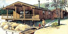 Cabin Retro House Plan 57369
