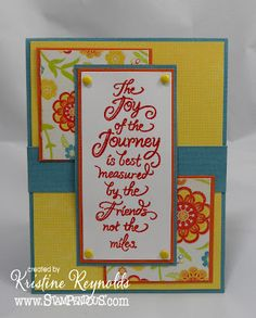 Sentiment from Stampendous Impressons Stamps and was embossed with Carnelian Embossing powder by Stampendous