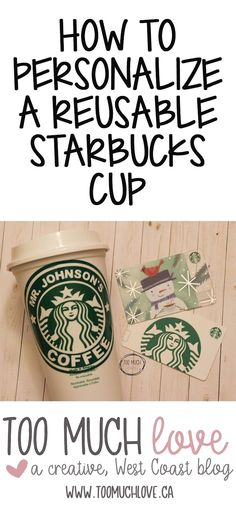 personalize a starbucks reusable cup