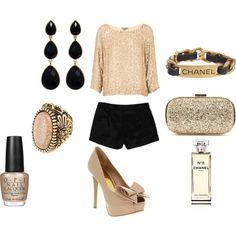 Everything minus the Chanel stuff.and then I need a fancier night life. Girls Night Out Outfits, Cute Outfits, Fashion Beauty, Fashion Looks, Womens Fashion, Midnight Summer, Date Night Fashion, Chanel Bracelet, Summer Loving