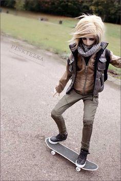 Bjd boy, skateboard