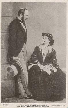 Queen Victoria of Britain with Prince Consort Albert of Coburg