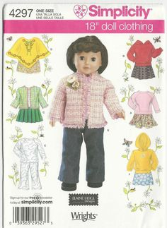 Sewing Pattern 18 Inch Doll Clothes Skirts by SewingPatternsArleen