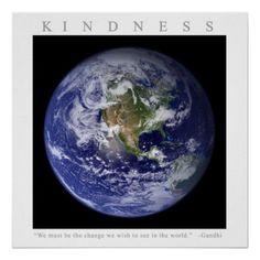 #Spring #AdoreWe #Zazzle - #Zazzle KINDNESS - Motivational Print w. Gandhi quote - AdoreWe.com