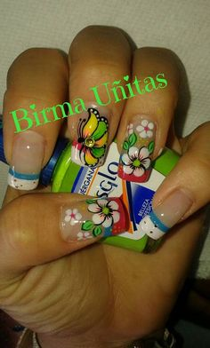 Butterfly Nail Designs, Nail Art Designs, Feet Nails, My Nails, Fancy Nails, Pretty Nails, Spring Nails, Summer Nails, Zebra Print Nails