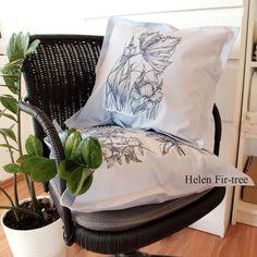 Helen Fir-tree machine embroidery  #helenfirtree #handmade #rucniprace  #idea  #pillows #machineembroidery #embroidery Fir Tree, Machine Embroidery, Pillows, Handmade, Instagram, Hand Made, Cushions, Pillow Forms, Cushion