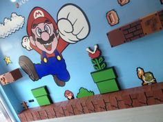 Mural 3D Super Mario | Nerd Da Hora