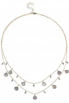 this sparkling double strand necklace has an effortless yet glamorous #bohemian #look I NEWONE-SHOP.COM