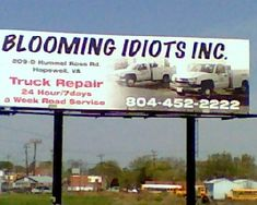 """""""Blooming Idiots Inc. Funny Spanish Memes, New Funny Memes, Funny Quotes For Kids, Daily Funny, Funny Quotes About Life, Funny Stuff, Funny Billboards, Good Morning Funny Pictures, Funny Road Signs"""