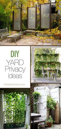 diy garden ideas Need backyard privacy ideas? Make these garden privacy screens with small trees, plants and other easy to find supplies! Diy Garden, Dream Garden, Garden Art, Home And Garden, Garden Ideas, Fence Ideas, Pergola Ideas, Backyard Ideas, Fence Options