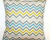Premier Prints Summerland Zoom Zoom Chevron Pillow Cover- 16x16 inches- Hidden Zipper Closure