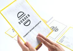 Lovely bright yellow illustrated packaging for Burger , in the student category, designed by Ae Ri Shin . Lots of thought put in to brail r...