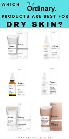 A how-to guide to pick the best The Ordinary products for dry skin. Build a skincare routine with the best products from The Ordinary for your dry skin. The Ordinary Skincare Guide, The Ordinary Products, Oil For Dry Skin, Moisturizer For Dry Skin, The Ordinary Moisturiser, The Ordinary For Dry Skin, Dry Acne Prone Skin, Skin Routine, Skincare Routine