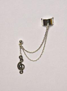 Music Note Ear Cuff. $12