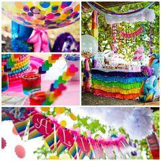 My Little Pony Rainbow themed birthday party Full of REALLY CUTE IDEAS via Kara' s Party Ideas! Full of decorating tips, desserts, recipes, ...